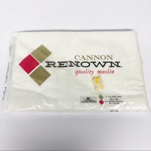 Vintage Cannon Renown Muslin Pillowcases Bedding